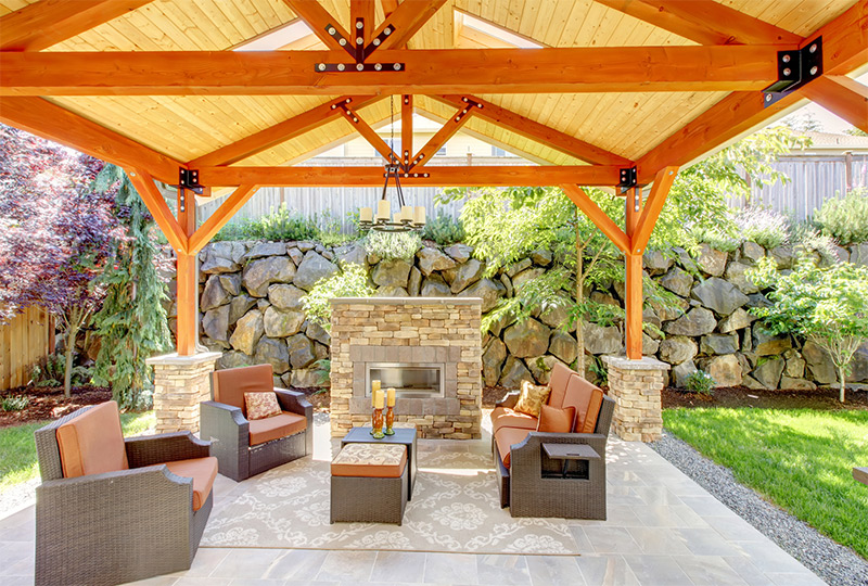 Guide to Patio-Porch Overhang Construction in Michigan on Backyard Overhang Ideas id=30967